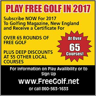 Play Free Golf in New England at Over 65 Courses and Receive Deep Discounts at Another 55 Courses